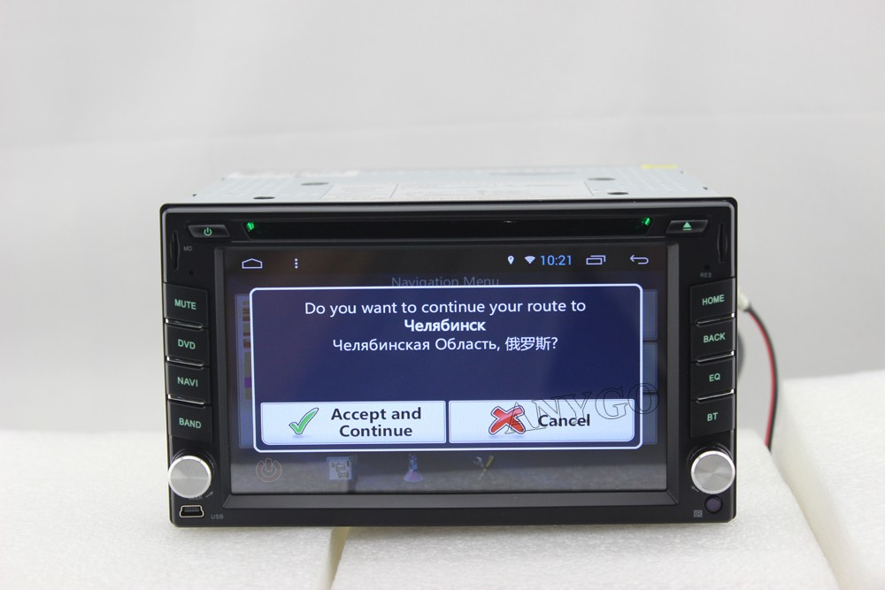 2 din Android 4.4 Quad Core Universal Car Radio DVD GPS Navi with Bluetooth Support 3G DVR OBD Digital TV 1.6GHZ CPU
