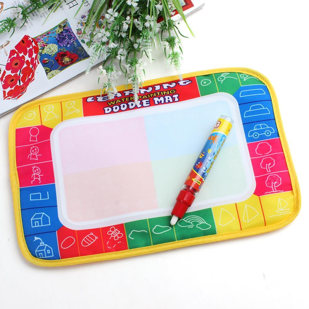 Water Drawing Painting Writing Mat Board Magic Pen Aqua Doodle Toys Mats Water Drawing Board(China (Mainland))