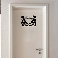 Black Man Woman English Quote Thinking WC DIY Removable Toliet Sticker Art Vinyl Wall Sticker Decal Mural Home Decoration