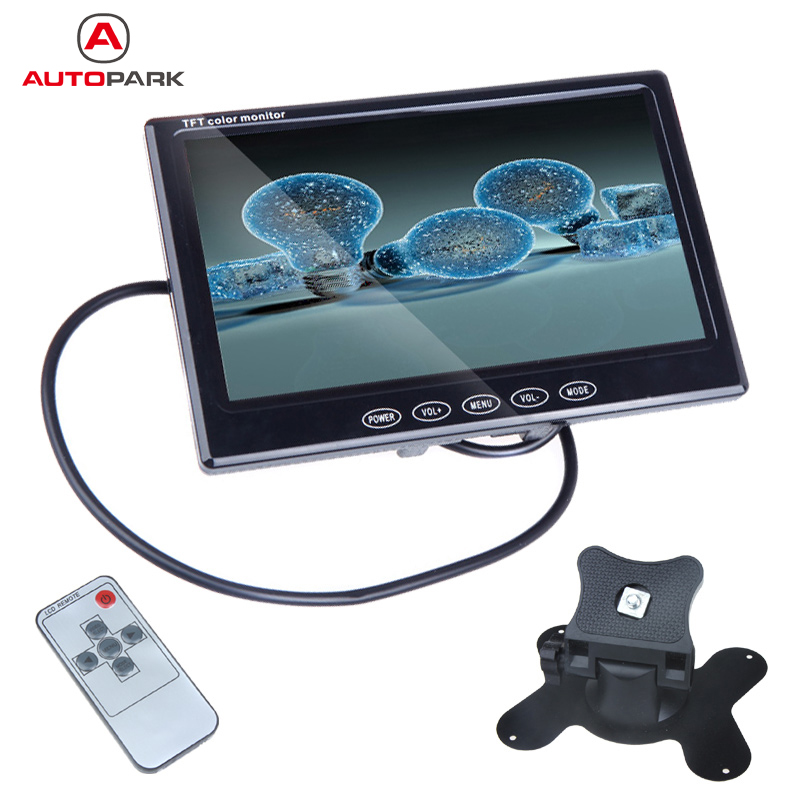Universal 7'' TFT LCD Color Car Monitor Rearview for VCD DVD GPS Camera Truck Boat for Volve Benz Volkswagen Golf 2 MK4 Opel(China (Mainland))