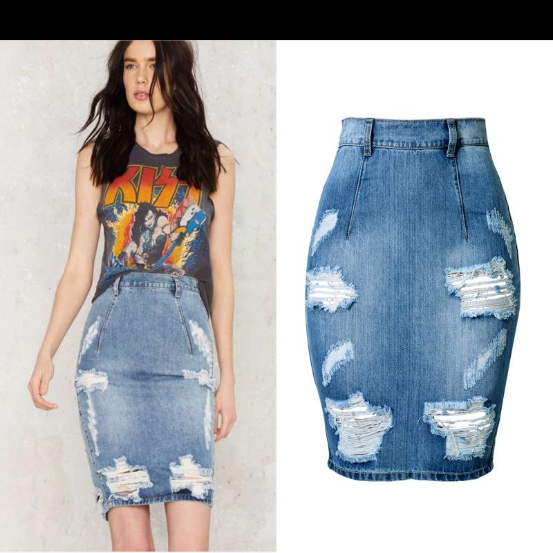 Bodycon Jean Skirt
