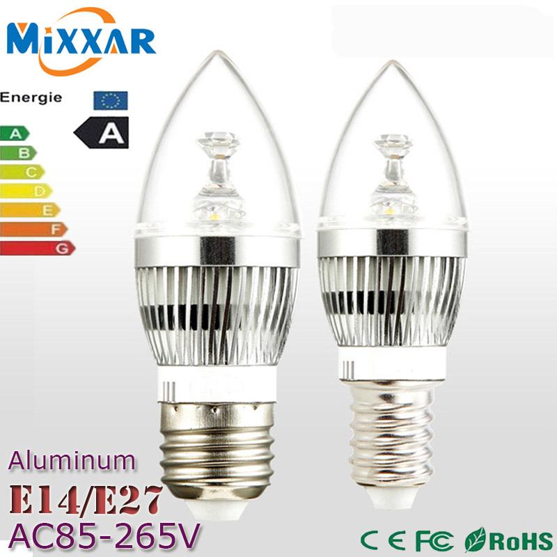 zk35 Dimmable E14 E27 3W 4W 5W 9W 12W 15W LED Candle Light Energy Saving Spotlight Lamp Bulb Velas Led Decorativas Home Lighting(China (Mainland))