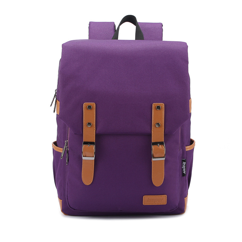 The new 2015 men and women general institute of canvas bag wind tide students backpack bag(China (Mainland))