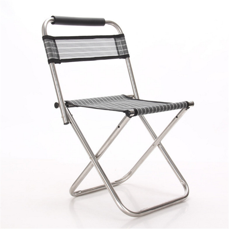 Stainless steel double folding chairs can be added fort fishing chair fishing stool outdoor leisure summer outdoor leisure chair(China (Mainland))
