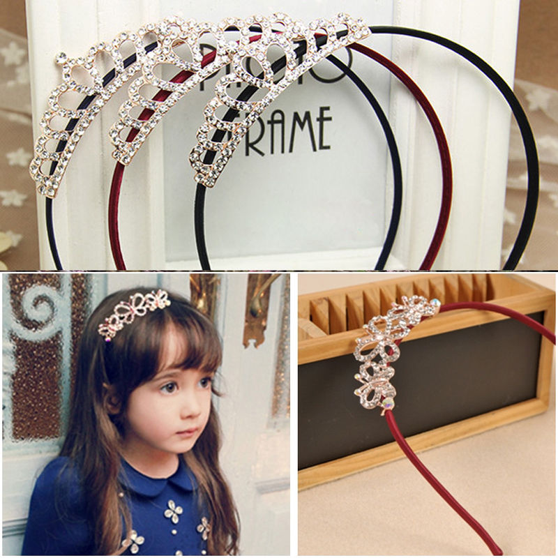 Cute Kids Girls baby Hair Accessories Princess Tiaras Crowns Butterflies Headbands Hot Sale(China (Mainland))