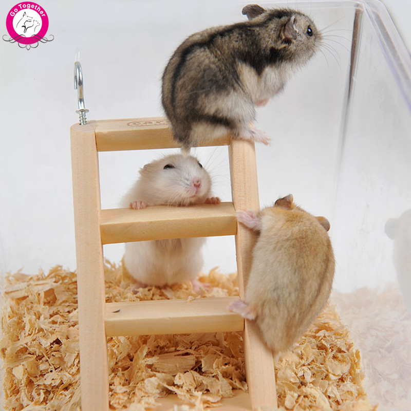 Small Animal Cage Toy Hamster Rabbit Hanging Ladder Rat Mouse Gerbil Wooden Toys 15*7*2cm(China (Mainland))
