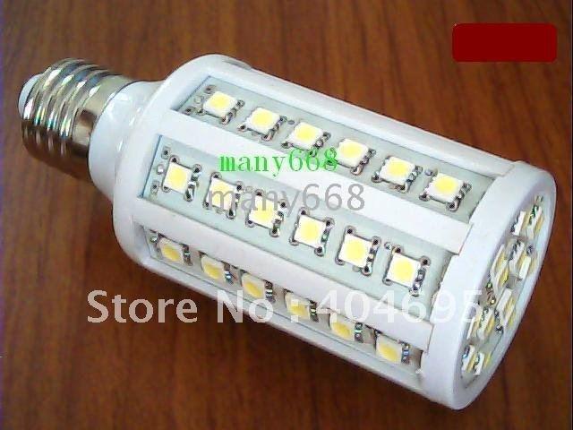 220V-240V E27 10W LED lamps60 * 5050 SMD Corn Light / LED energy-saving lamps LED bulbs 5PCS