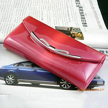 Special Sales Patent Leather women Wallets fashion Women Clutch Long Design Purse Bags Wholesale Handbag portefeuille femme(China (Mainland))