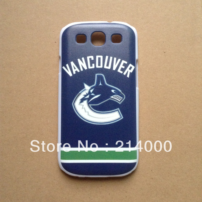 Ice Hockey Team Case Vancouver Canucks Case for Samsung Galaxy SIII i9300(China (Mainland))