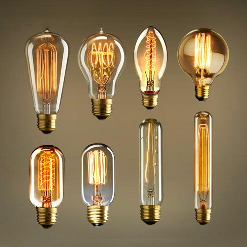 Antique Retro Vintage 40W 220V Edison Bulb E27 Incandescent Bulbs Squirrel-cage Filament Light Bulb Edison Lamp<br><br>Aliexpress