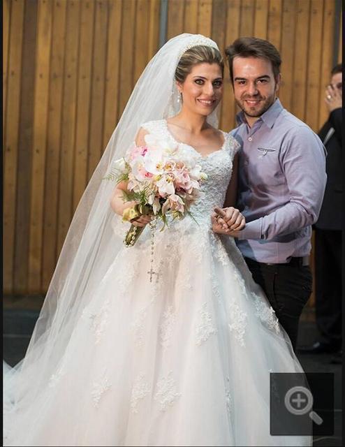 Жилетidos Noiva Cap рукавом сексуальная свадебное платье само одеяние де mariée ...