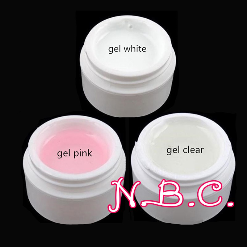 3 Pink White Clear UV Gel