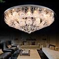 Modern Lustre K9 Crystal Peacock E14 Led Ceiling Light Creative Frosted Glass Diningroom Led Ceiling Lamp