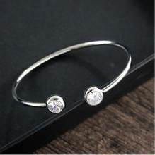 Новое поступление Лидер продаж минимализма циркон браслеты Brincos Bijoux Jewelry браслет подарок B3017(China)