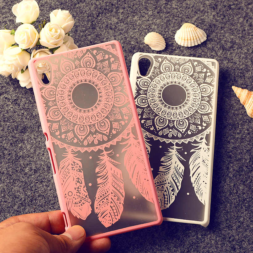 Rubberized Painted Phone Cases For Sony Xperia Z4 Z3+ Plus E6553 E6533 Covers Bird Plumage Anti- Scratch Plastic Durable Shell(China (Mainland))
