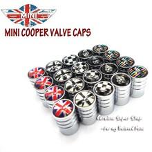 4pcs/set MINI cooper Emblem Tire wheel Valve Stem Cap Union Jack,Black Jack emblem R56 R55 countryman clubman
