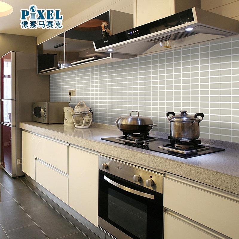 Witte mozaiek tegels keuken - Badkamer keramische foto ...