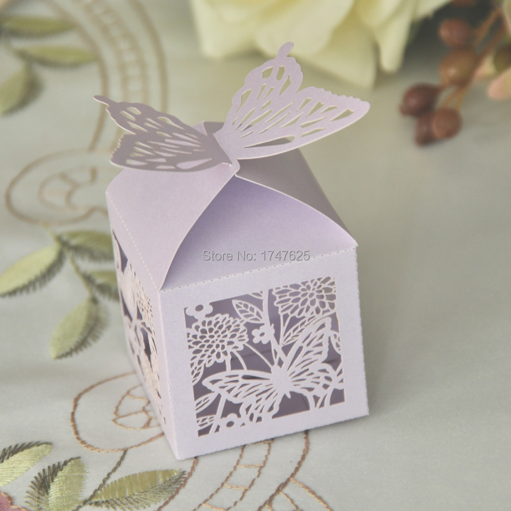 Purple Butterfly Favor Boxes: Free shipping pcs creative butterfly ...