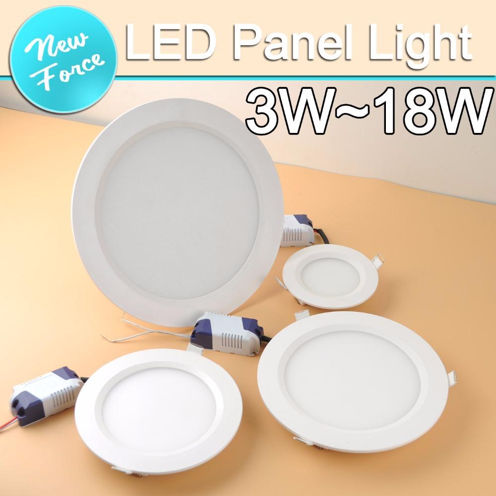 3w 5w 9w 12w 15w 18w LED downlight round led panel light AC110V 220V 240V for home indoor lighting Led Bulb Lamp(China (Mainland))