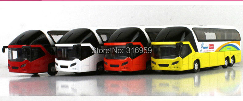 New Airport passage express bus model 1:43 diecast car model doors open sound&light bus action toy vehicles(China (Mainland))