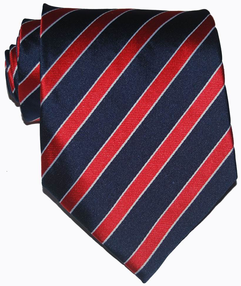 New Classic Solid Color Striped Tie Red Dark Blue Navy White Jacquard Woven 100% Silk Fashion Wedding Party Men's Ties Necktie(China (Mainland))