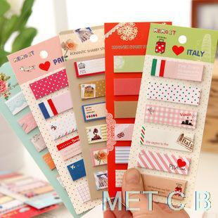 Гаджет  2015 Direct Selling Hot Sale Kawaii F219 Korea Stationery Fresh And Lovely Cartoon Sticky Note Paper Notes N Times Posted This None Офисные и Школьные принадлежности