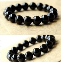 Fashion Natural Black Agate Bracelet Beads Bracelet Women Jewelry Free Shipping 0118
