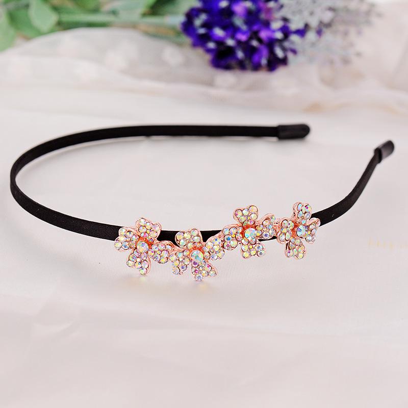 Sales of high-grade refined Rhinestone hoop Yiwu four flower hair accessories shop 10 yuan wholesale aliexpress goods(China (Mainland))