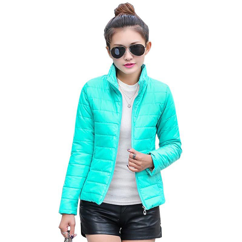 hot sale 2016 new women's jacket to keep warm in winter padded silk, ladies fashion casual Slim padded winter jacket(China (Mainland))