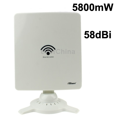 Free Shipping Discounting 5800mW High Power 802.11N High-Power Wireless USB Adapter with 58dBi Gain Antenna(China (Mainland))