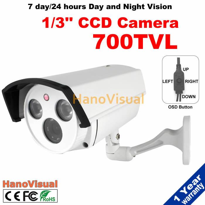 960H OSD Menu Button Home Security Camera 2pcs Array IR Led Night Vision Outdoor IR Surveillance Camera 700TVL CCD CCTV Camera(China (Mainland))