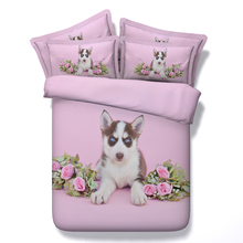 Free shipping via UPS twin/full/queen/king/super king size textile 3d animal dog/squirrel/owl 5pcs bedding set with comforter(China (Mainland))