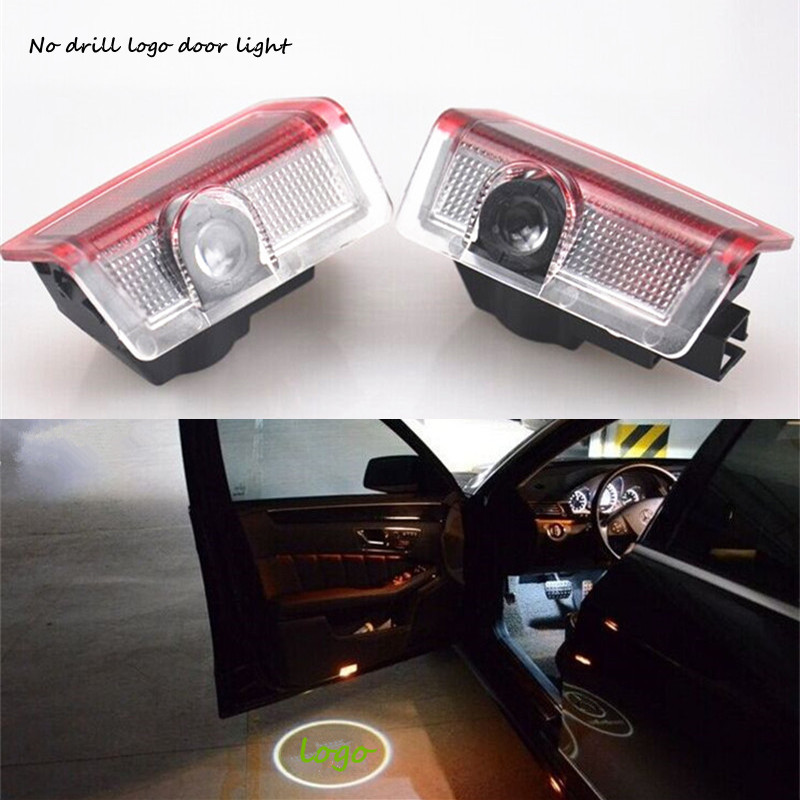 2X LED car Door Courtesy Ghost Shadow Logo Lights Mercedes Benz E B C ML Class w212 w166 w176 - xiaofeng Auto supplies store