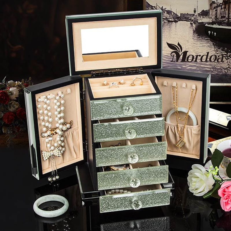 Mordoa High-end Rings Jewelry Box European Princess Jewelry Box Jewelry Storage Box Cosmetic Box Birthday Gift to Send Gifts(China (Mainland))