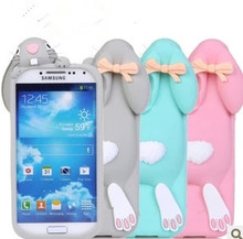 With Logo 3D Cute cartoon cases Cover For Samsung Galaxy S3 i9300 S4 i9500 Note 3 Bunny Rabbit Rubber Soft Silicone Case(China (Mainland))