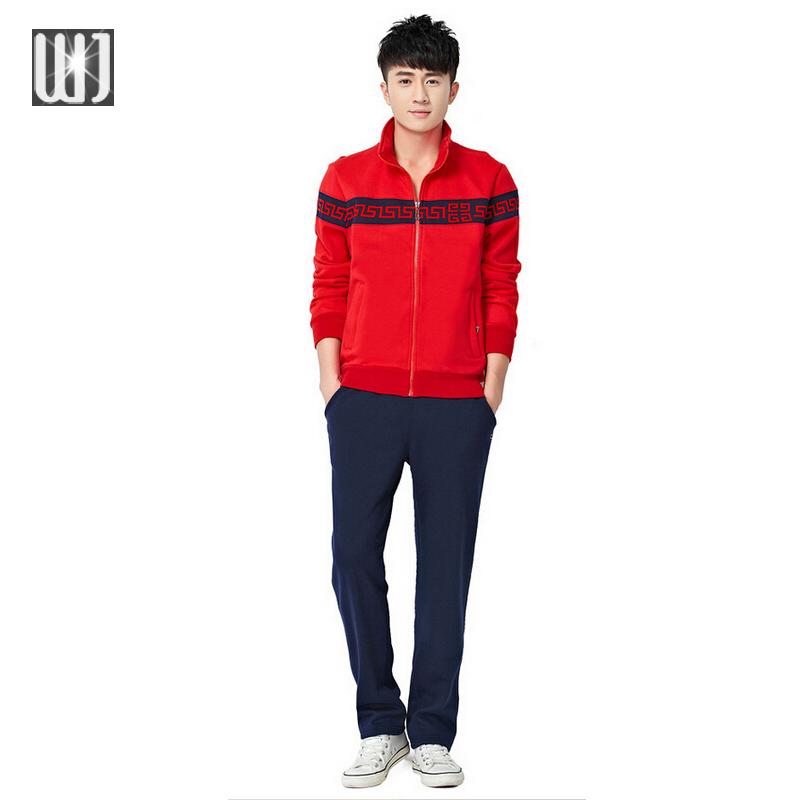 Fleece Tracksuits Hoodie Men's Zipper 2016 Cardigan Sport Suits Fashion Coats Jacket Set Pants Sportswear Brand Male Sweatshirt