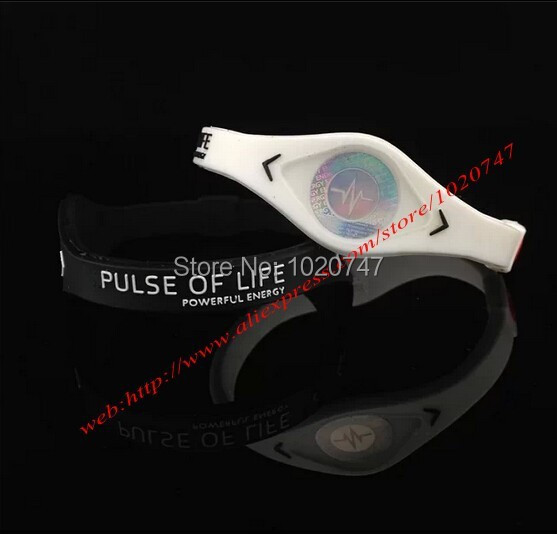 Power Energy Hologram Bracelets Wristbands Keep Balance Ion Magnetic Therapy Fashion Silicone Bands Men and women jewelry(China (Mainland))