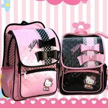 Retail 1PC Hello Kitty School Bags Sweet Bows Learher School Backpacks For Girls Mochila Escolar ZZ2987(Hong Kong)