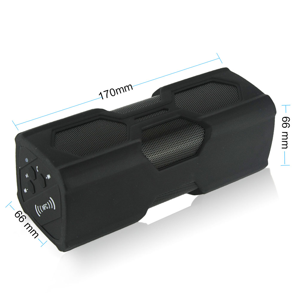 Mini Portable Bluetooth Speaker V4.0 NFC Waterproof Water Resistance IPX4 Shockproof Dust proof Armor Wireless Speakers(China (Mainland))
