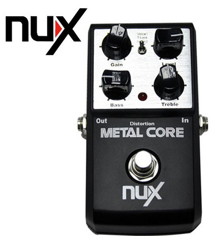 EQ Guitar Effects Pedal Tone Lock Preset Function True Bypass Design NUX Metal Core Distortion Effect Pedal(China (Mainland))