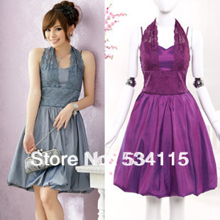 2014 new plus size short wedding guest dresses elegant for Halter dresses for wedding guests