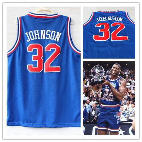 Los Angeles 32 Earvin Jersey Cheap Basketball Jersey manufacturers Magic Johnson all star basketball jersey uniform(China (Mainland))