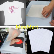 Top Quality 10pcs White A4 Size Heat Transfer Paper For Clothing Light Color Imagine Iron Transfer (China (Mainland))