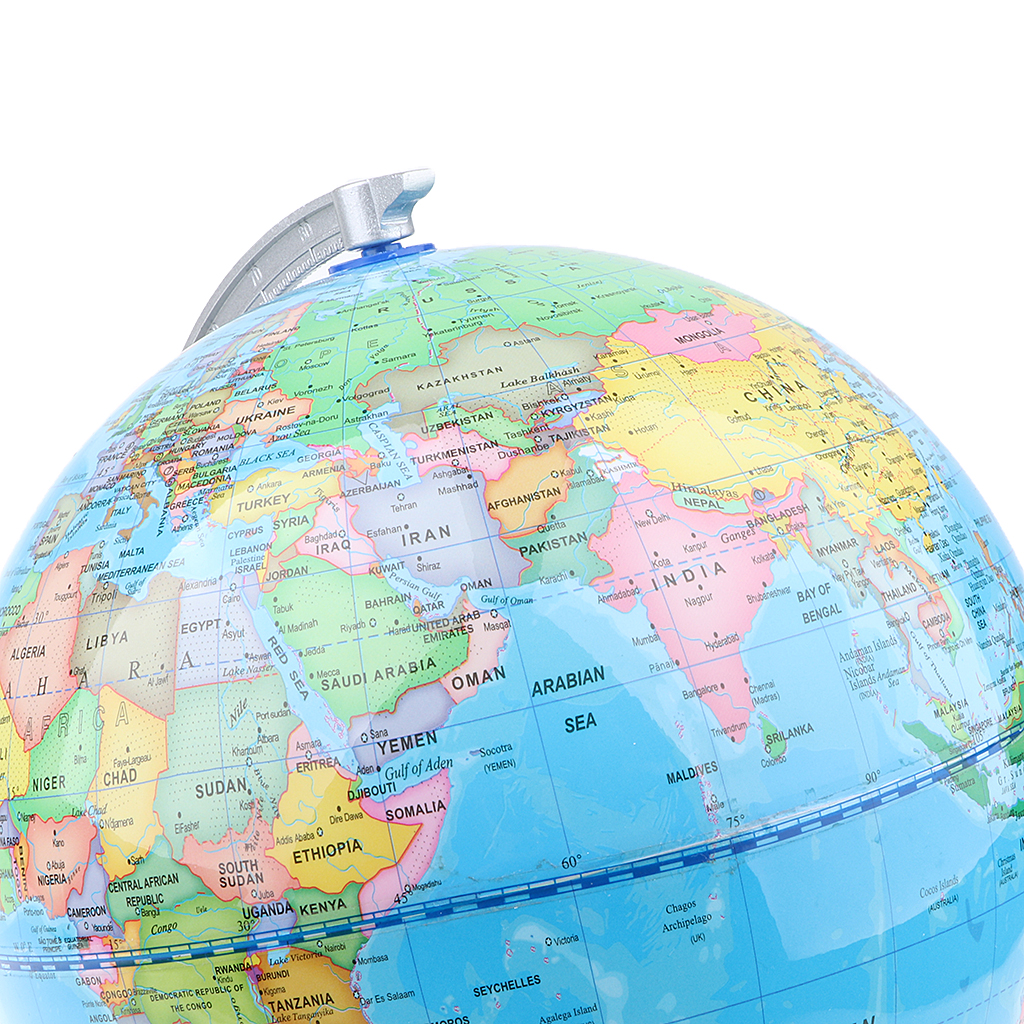20cm Wooden Base ABS Geographical World Map Earth Ocean Globe Home/Decor Decor Supplies Educational Toy