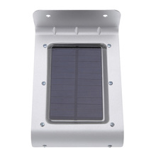 16 LED Water-Resistant Outdoor Lighting Lamp/ Solar Powered Wall Light Ray/Sound Sensor Energy Saving Garden Path Yard LED IP65(China (Mainland))