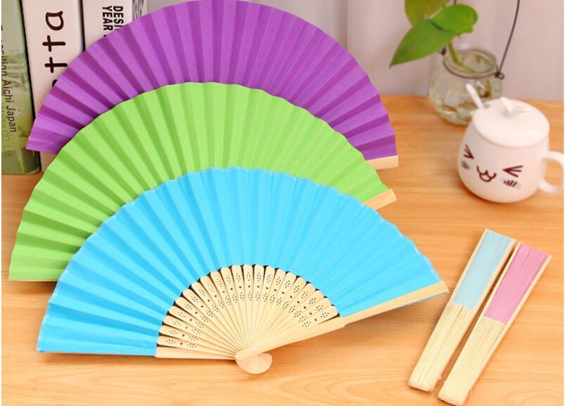 Free shipping,1pc,diy blank white paper folding fan 7 inch, Hand small fan cool fan folding fan cute,party supplies,gift(China (Mainland))