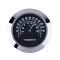 1 pc 7 8 1 Motorcycle Handlebar Black Dial Clock Temp Thermometer For honda Handlebar
