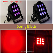 Buy 10pcs/lot 9x12W LED Flat SlimPar Quad Light RGBW 4in1 LED DJ Wash Light Stage Uplighting Noise Fast for $345.00 in AliExpress store