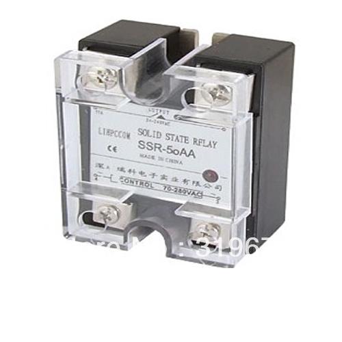 Single Phase Solid State Relay SSR AC-AC 50A 24-240V AC / 70-280V AC<br><br>Aliexpress