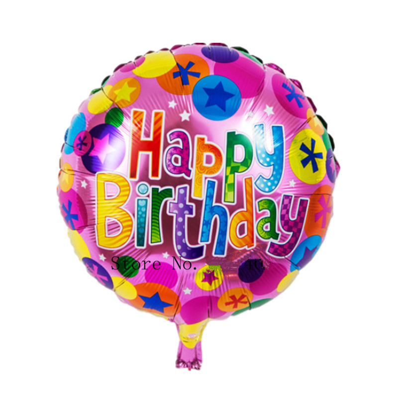 XXPWJ Free Shipping New 1pcs Foil aluminum balloons Happy birthday balloons wholesale children's toys wedding party(China (Mainland))
